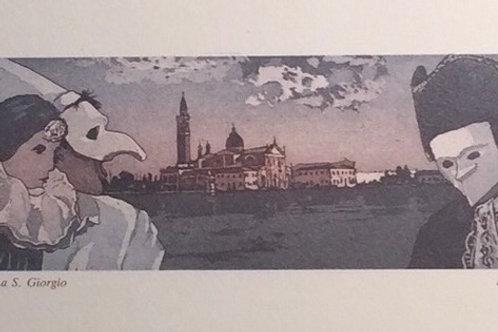 Maschere a S. Giorgio, Baruffaldi, Acquatint
