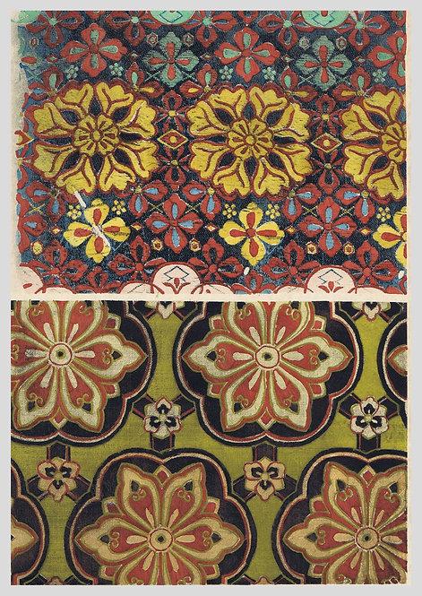 Fragments de soieries a motifs symetriques