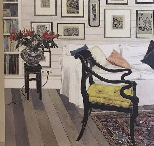Cressida Campbell, Interior with Black Lacquer Chair