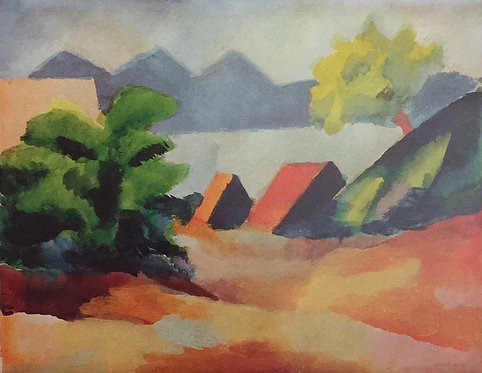 August Macke, On Lake Thun