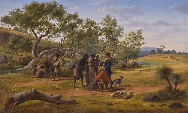 Eugene von Guérard, Aborigines met on th