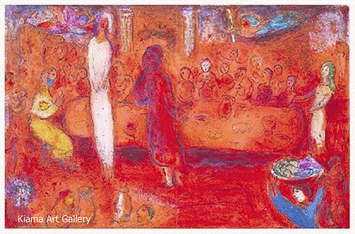 Marc Chagall - Megacles Recognizes His Daughter at the Feast
