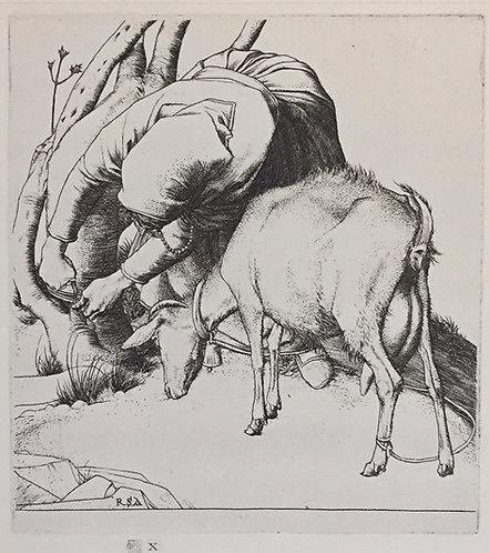 Robert Austin, Woman Tethering Goat