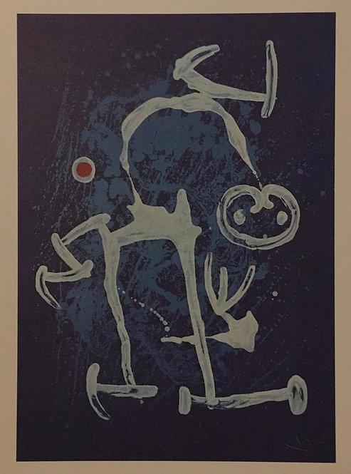 Joan Miro, Uneducated, Blue