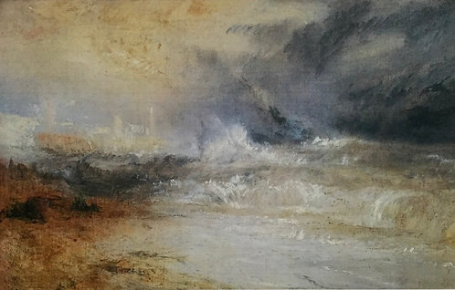 JMW Turner, Waves breaking over a Lee Shore at Margate
