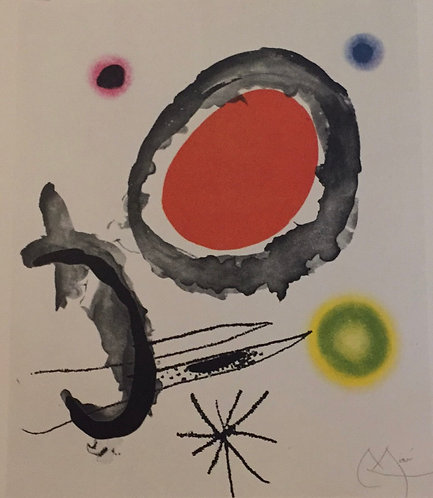 Joan Miro, Bird Between Two Stars
