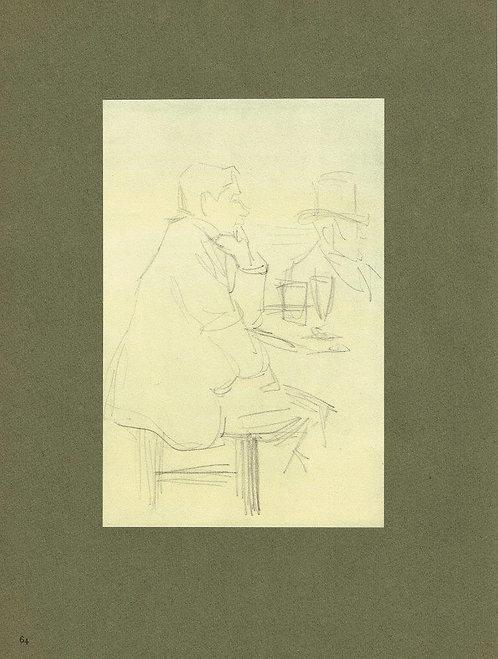 Jacques Villon,  Cafe Avenue des Gobelins