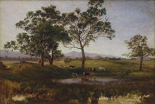 Nicholas Chevalier, Gum Trees, Pool and