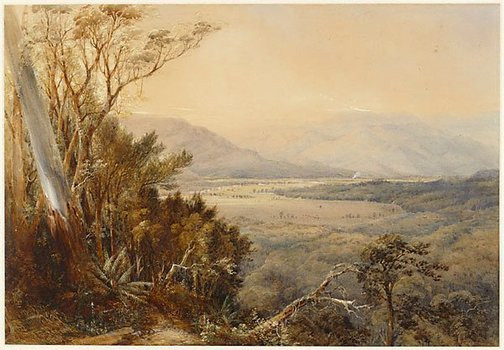Conrad Martens, Shoalhaven Valley, New South Wales, 1861