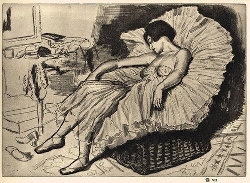 Dame Laura Knight, Dancer Sleeping