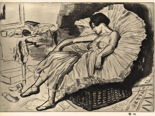 Dame Laura Knight Dancer Sleeping