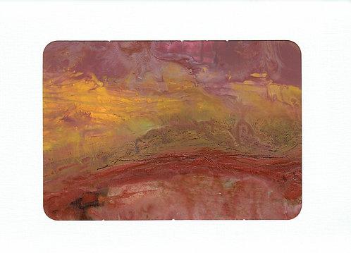 JMB, Desert Sunset, Mixed Media