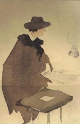 Jacques Villon, Le portraitiste au cafe