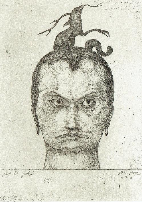 Paul Klee - Head of Menace