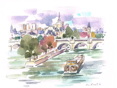 Maurice Finet French Watercolour