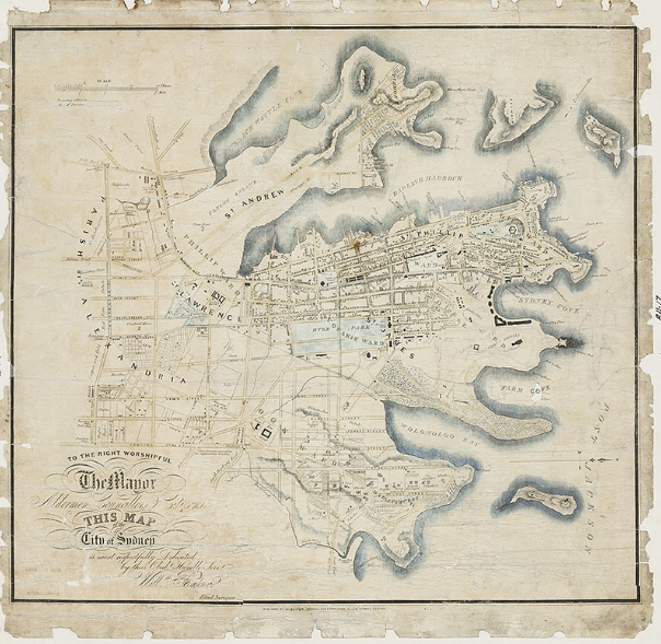 1843  Wells' beautifully engraved map