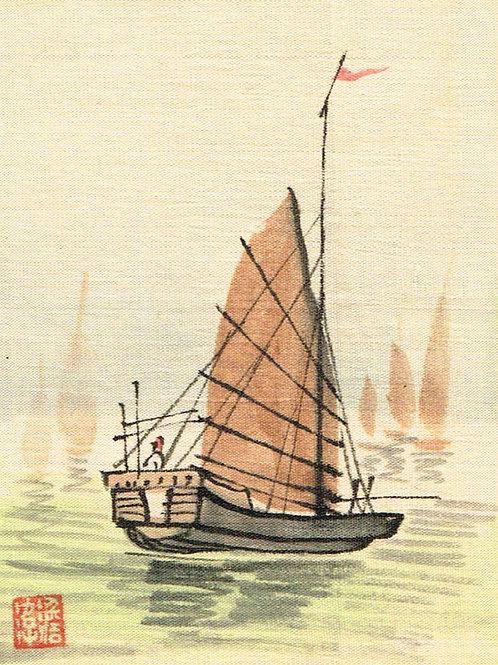 Japanese Painting on Silk 5