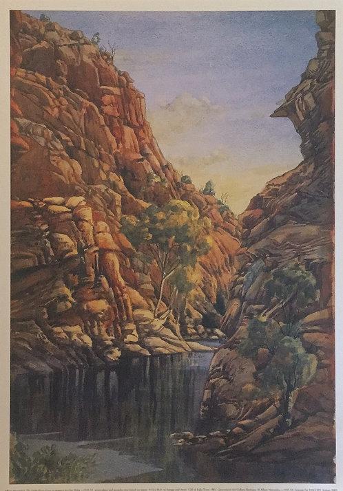 Albert Namatjira, The Finke River Gorge at entrance to Glen Helen
