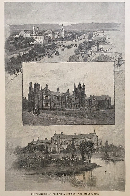 Universities of Adelaide, Sydney and Melbourne