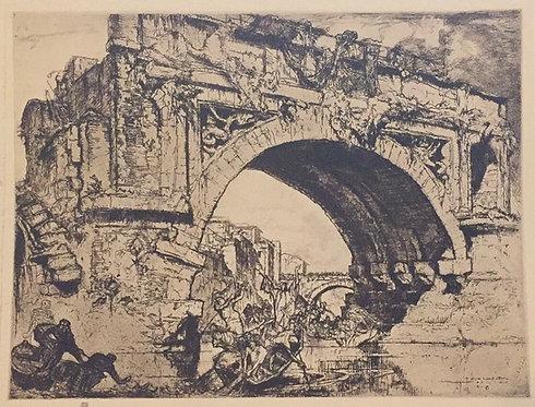 Frank Brangwyn, Ponte Rotto, Rome