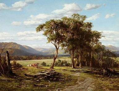Louis Buvelot, At Lilydale, 1870.PNG