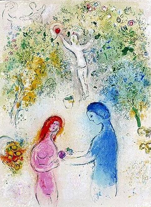 Chagall Daphnis and Chloe 1977 Print 320mm x 240mm Daphnis and Chloe