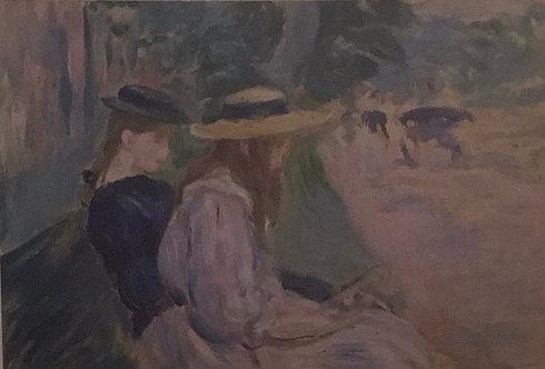 Berthe Morisot, On a Bench in the Bois de Boulogne, 1894