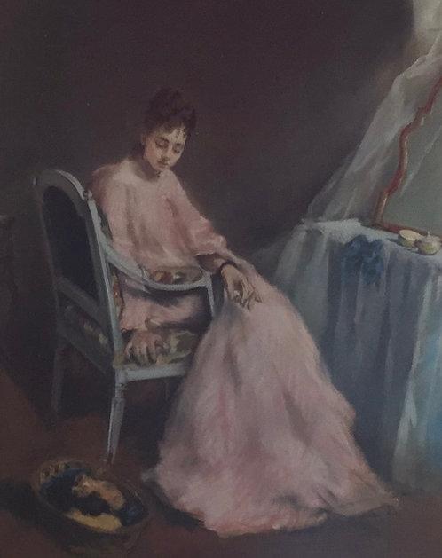 Eva Gonzales, La Matinee Rose, 1874