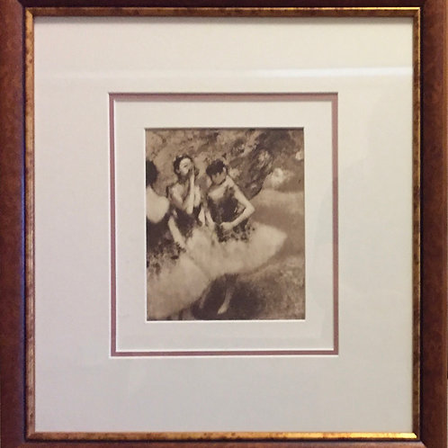 Edgar Degas,  Vintage photogravure of dancers
