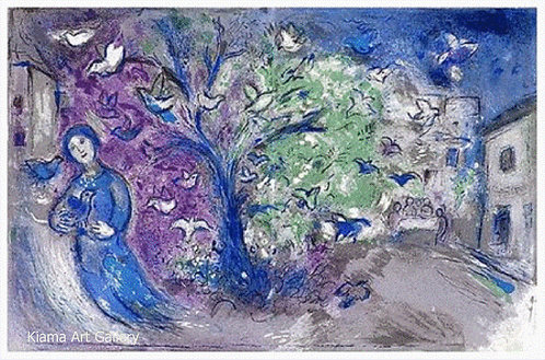 Chagall Daphnis and Chloe 1977 Print 320mm x 480mm Snaring Birds
