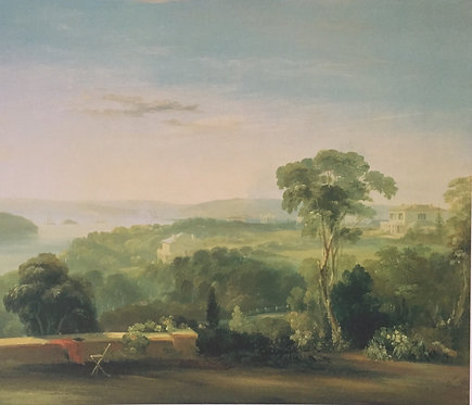 Conrad Martens, View from Rose Bank (detail), 1840