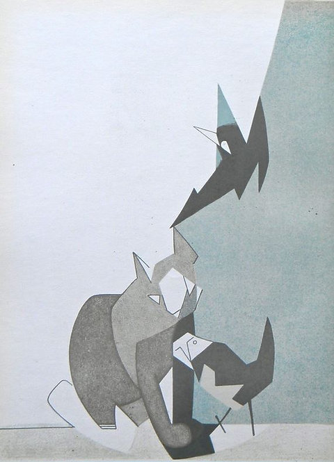 Andre Beaudin Original Lithograph Plate 8