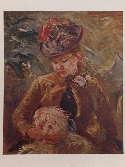 Berthe Morisot. The Little Girl with a Dog, 1887