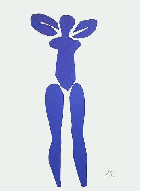 Matisse -  Lithograph - Nu Bleu X
