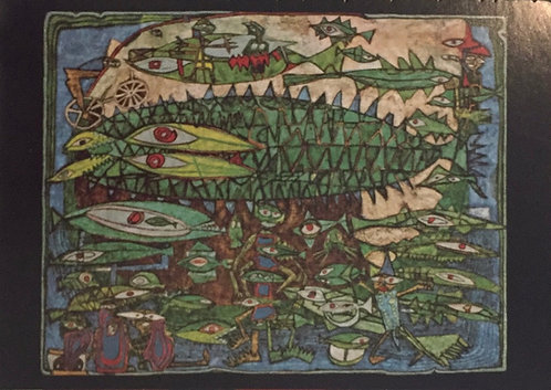 Hundertwasser, Eating Fishes and Cyclists