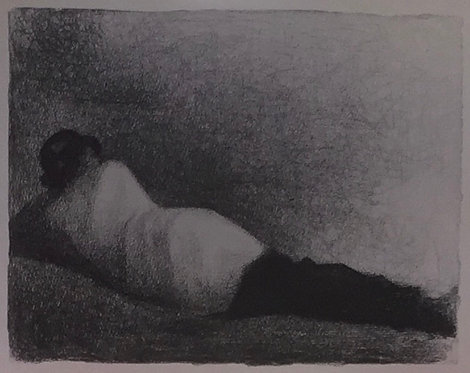 Georges Seurat, Reclining Man, Study for Bathers as Asnieres 2