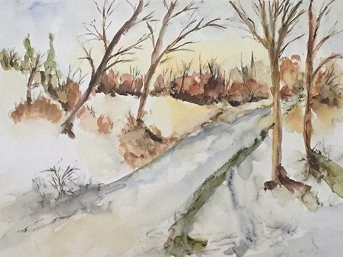 K Welzel, Winterweg, Path in Winter