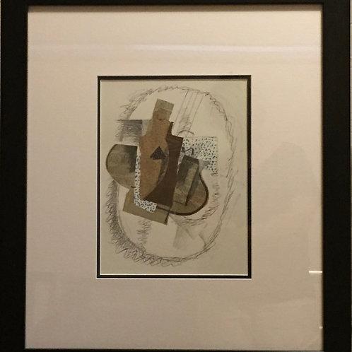 Georges Braque, Original lithograph, Papiers Collés I