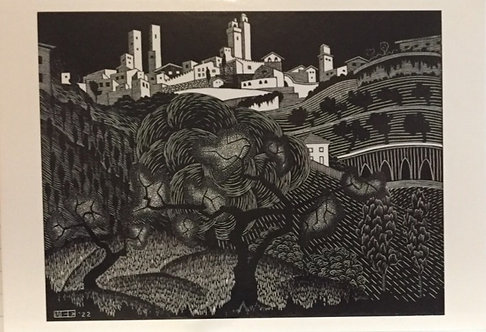 M C Escher, San Gemignano July 1922
