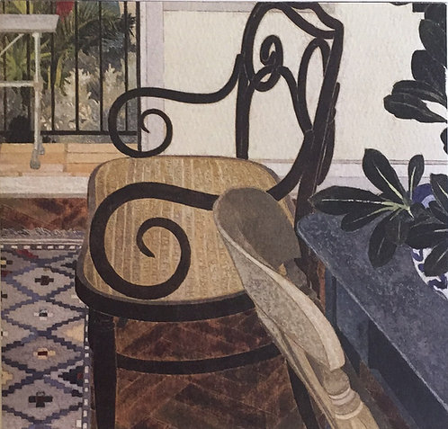 Cressida Campbell, Interior with Kilim