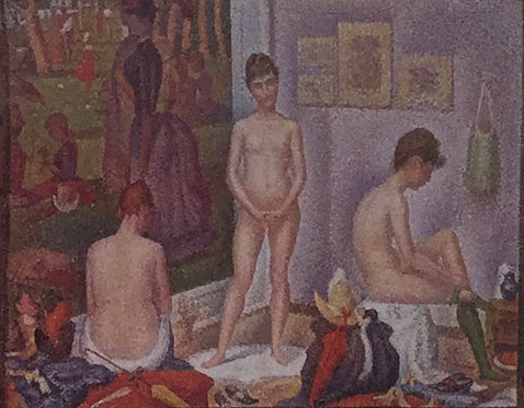 Georges Seurat, The Models, Small Version