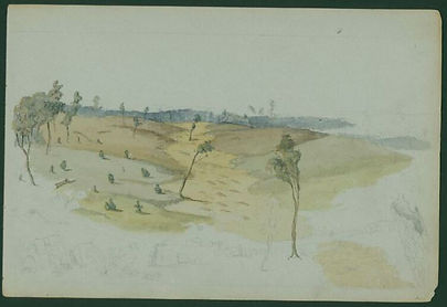 Charles Lyall, View over a goldfield, c
