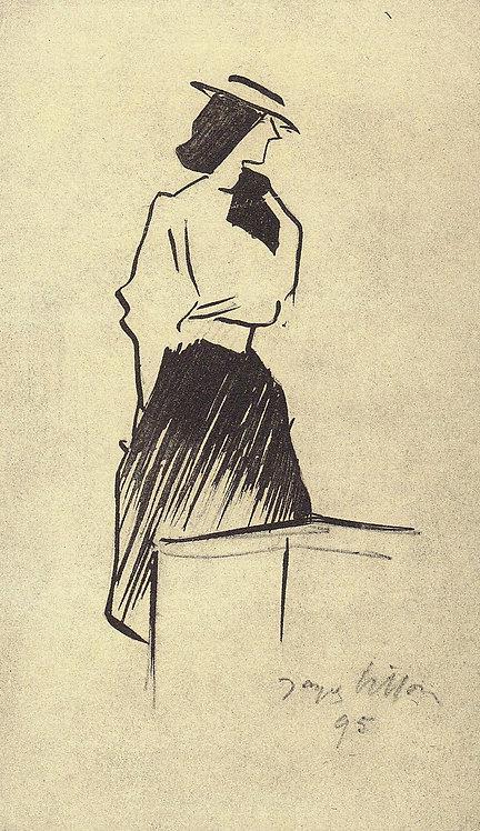 Jacques Villon, Chanteuse au chapeau