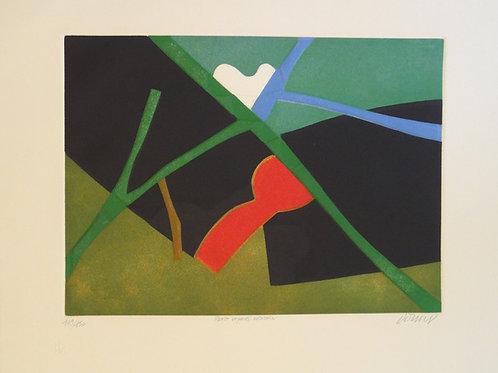 Bernard Dornay, Modernist French artist, Embossed gravure