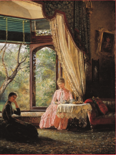 Emma Minnie Boyd, Afternoon Tea, 1888, B