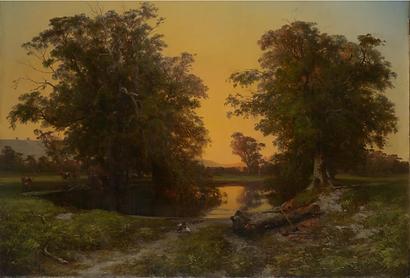 Louis Buvelot, Waterpool near Coleraine