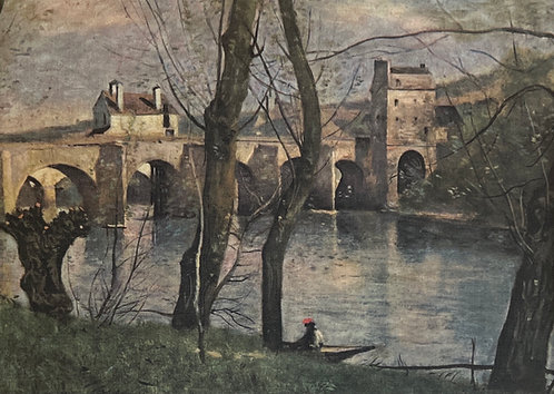 Camille  Corot, The Bridge of Mantes