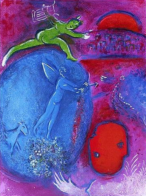 Chagall Daphnis and Chloe 1977 Print 320mm x 240mm The Dream of Lamon and Dryas