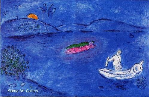 Chagall Daphnis and Chloe 1977 Print 320mm x 480mm Echo