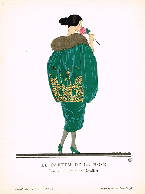Gazette du Bon Ton original Pochoir